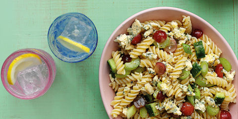 Grape and Stilton pasta salad