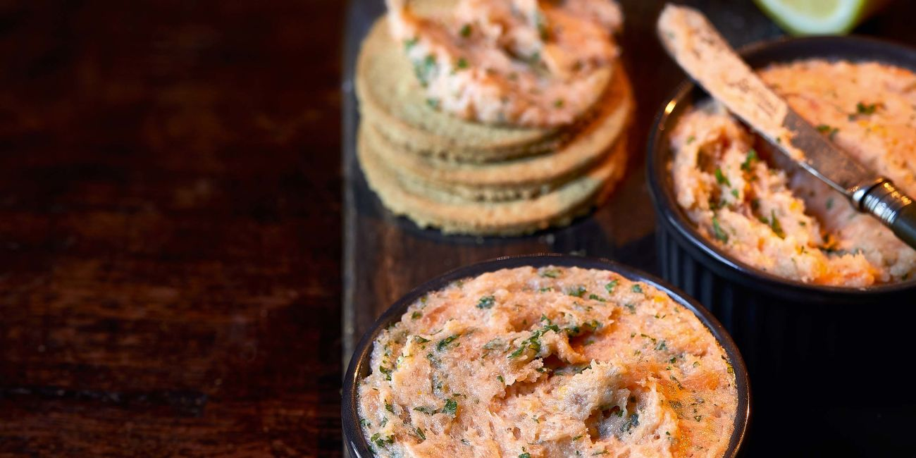 Smoked salmon and whisky pate