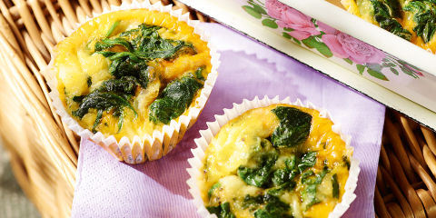 Flourless spinach and egg muffins