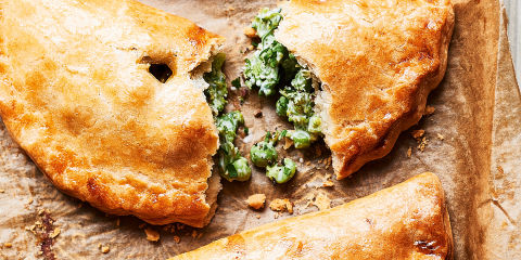 Cheese and veg pasties