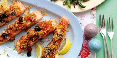 Mediterranean salmon fillets