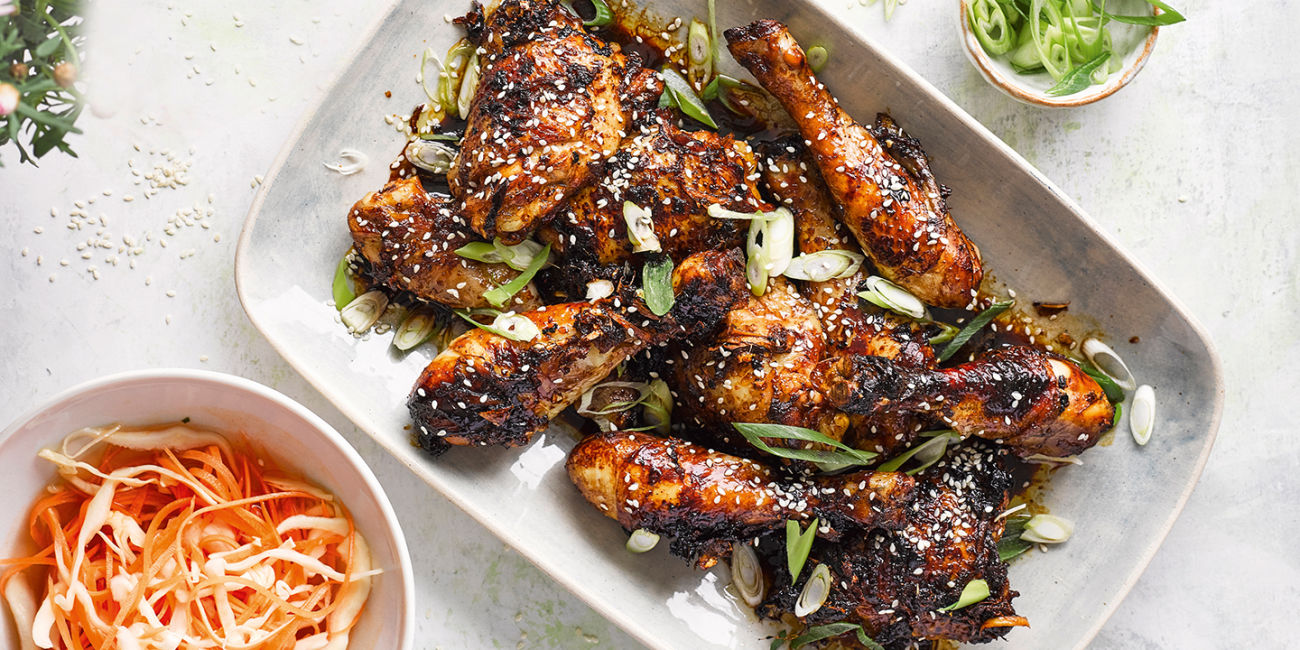 Super sticky korean chicken