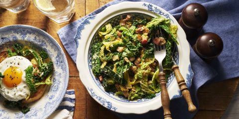 Savoy cabbage with pancetta