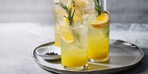 Ginger & rosemary spritzer
