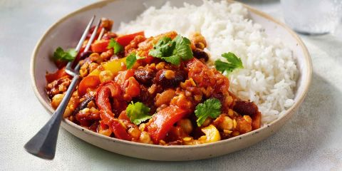 Lentil and bean chilli