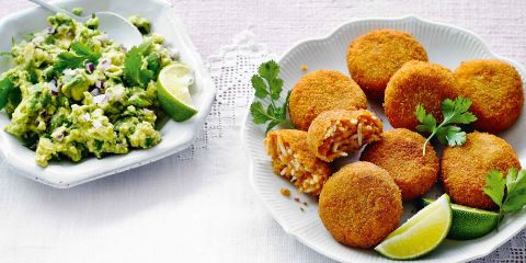 Sweet potato croquettes with guacamole