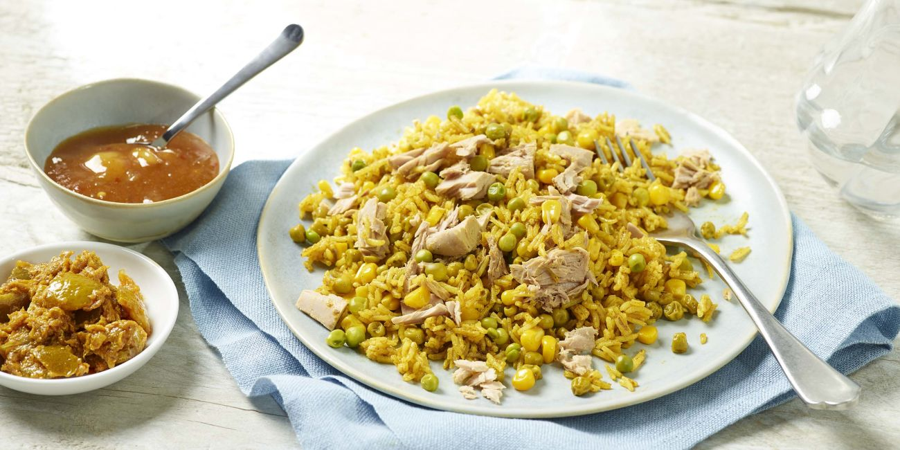 Tuna and sweetcorn pilaf