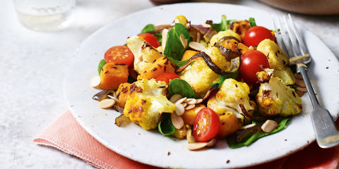 Cauliflower and butternut squash salad