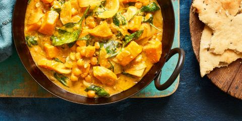 Sweet potato & spinach korma