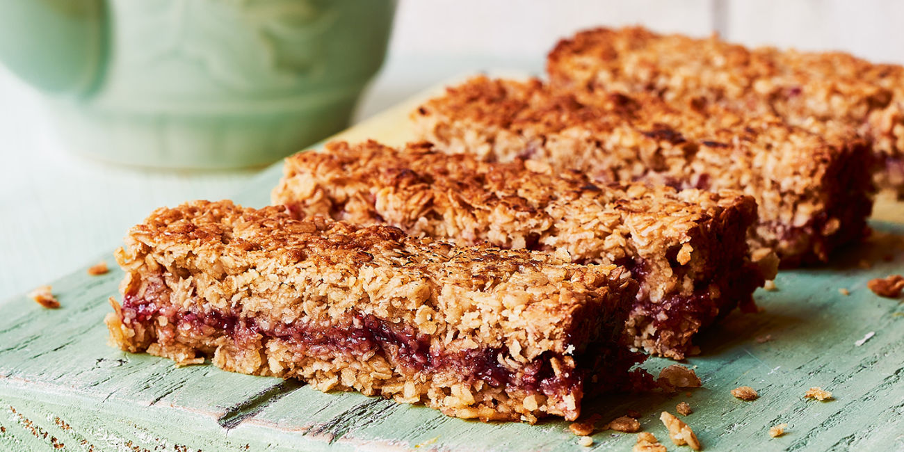 Jammy flapjacks