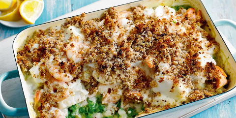 Crusted fish pie