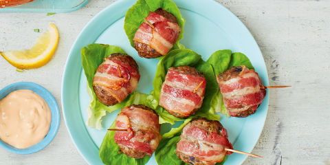 Bacon burger dippers