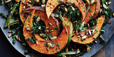 Roasted pumpkin with chilli-spiked crumb