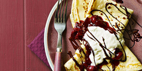 Black forest pancake topping