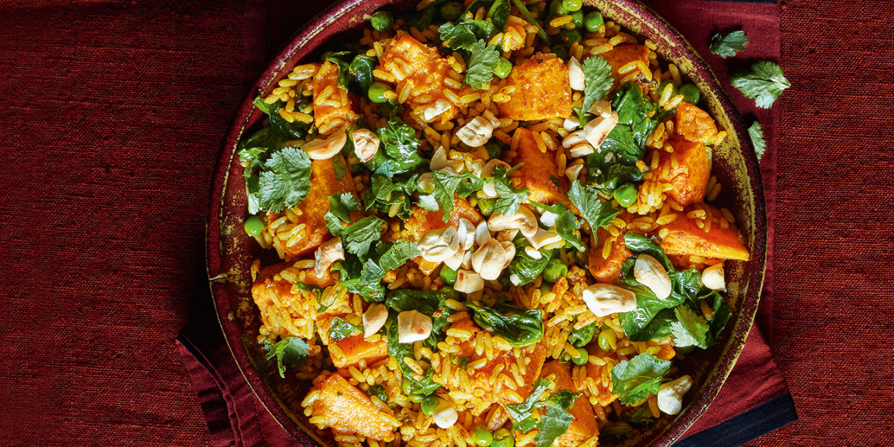 Sweet potato biriyani