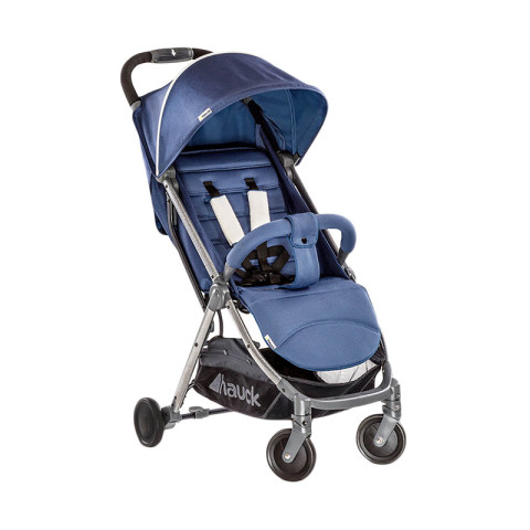 Mumsandbabes - Hauck Swift Plus Stroller + Free Travel Bag - Denim Blue