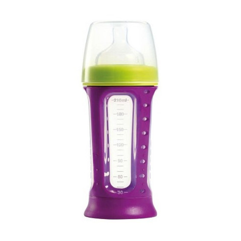 Mumsandbabes - Beaba Biboz 1st Stage Silicon Feeding Bottle Gypsy [210 mL] - 911376