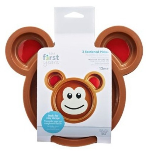 Mumsandbabes - The First Year Monkey Plate 2pk Y6595
