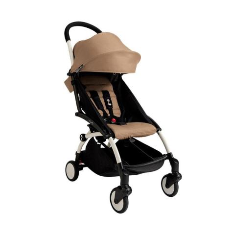 Mumsandbabes - Babyzen Stroller Yoyo+ Frame White New Born Pack 6+ Color Pack Taupe