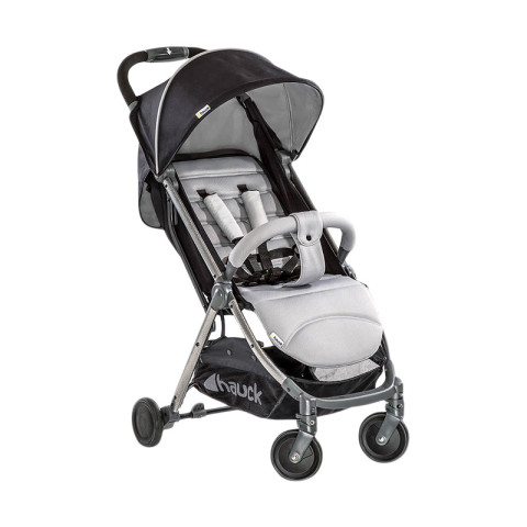 Mumsandbabes - Hauck Swift Plus Stroller + Free Travel Bag - Silver Charcoal