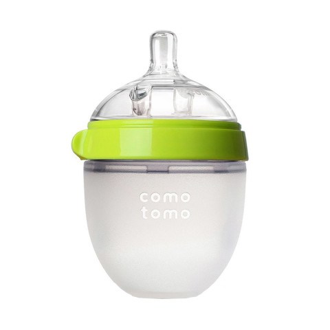 Mumsandbabes - Comotomo Baby Bottle Botol Susu - Green [150 mL]