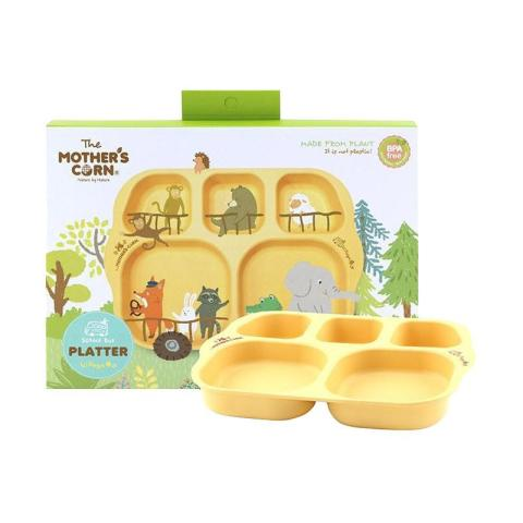Mumsandbabes - Mother's Corn School Bus Platter Peralatan Makan Bayi - Village