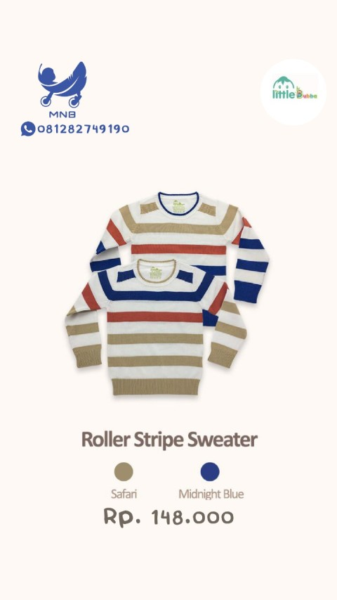 Mumsandbabes - Little Bubba Knit Wear Boy Roller Stripe Sweater