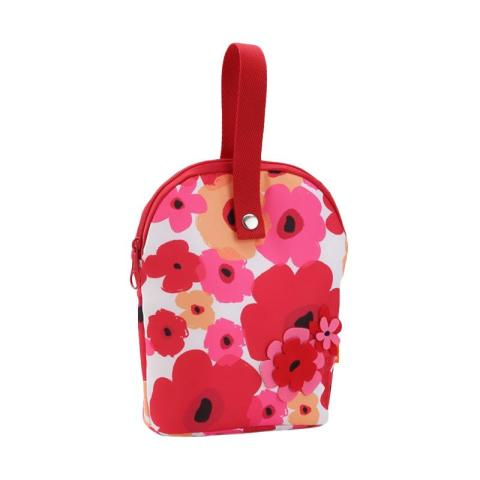Mumsandbabes - Okiedog Tandem Flower Power Cooler Bag - Red