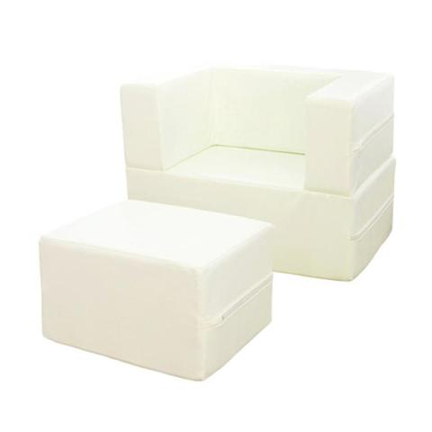 Mumsandbabes - Foldaway Arm Chair - White