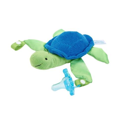 Mumsandbabes - Dr. Brown's Turtle Lovey with Blue One Piece Pacifier Dot Bayi