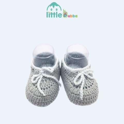 Mumsandbabes - Little Bubba Handmade Knit Shoes - Drawstring Newborn