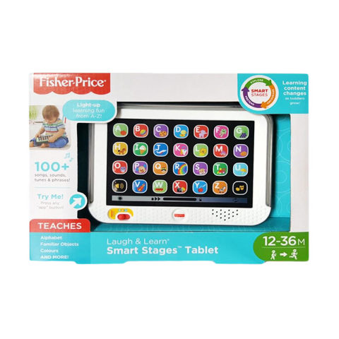 Mumsandbabes - Fisher Price L&L Smart Stages Tablet Mainan Bayi - Grey