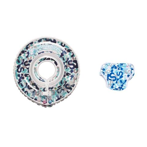 Mumsandbabes - Swimava SWM212 Blue Camo G1 Starter Ring with Diaper - Blue