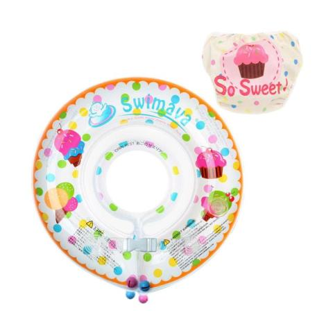Mumsandbabes - Swimava SWM203 Ice Cream G1 Starter Ring with Diaper - Mix Color