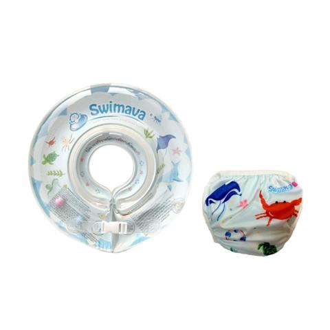 Mumsandbabes - Swimava SWM218 Ocean Life G1 Starter Ring with Diaper - Blue