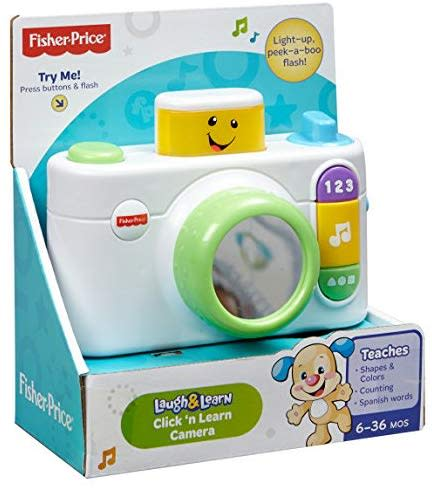 Mumsandbabes - Fisher Price - CDK39 FP LNL Click'N Learn Camera_Wht