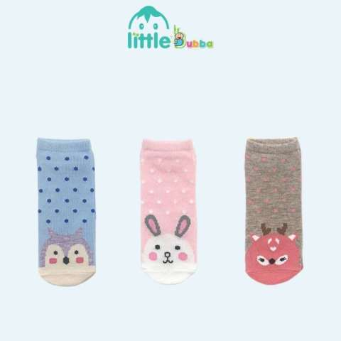 Mumsandbabes - Little Bubba Bamboo Socks Set - Zoo Girl