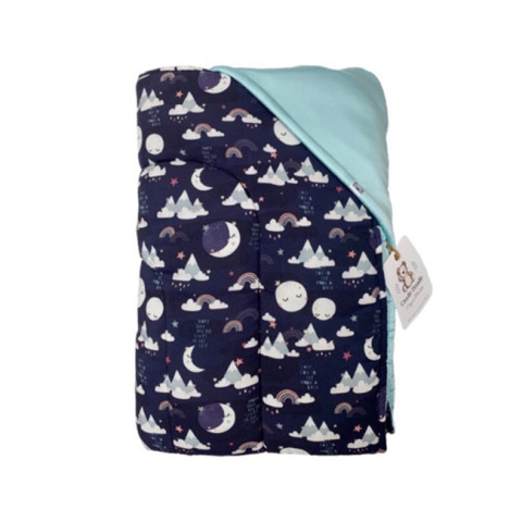 Mumsandbabes - Cradle Doodle Organic Blanket - Moon Night
