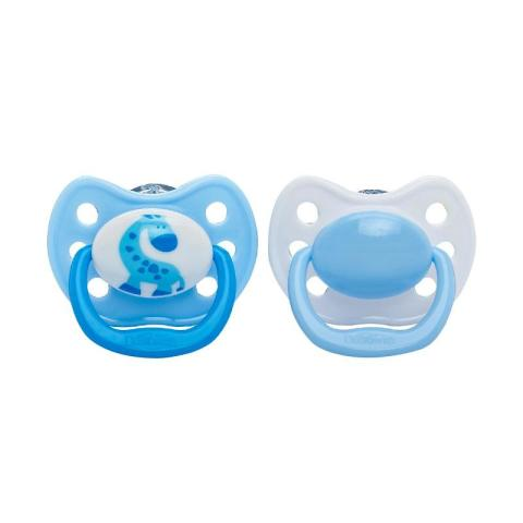 Mumsandbabes - Dr. Brown's 961 Pacifier W Handle 0-6M [2 pcs/Size 1] Blue