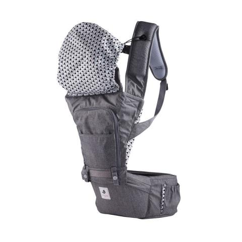 Mumsandbabes - Pognae No.5 Waterproof Outdoor Hipseat Carrier - Grey