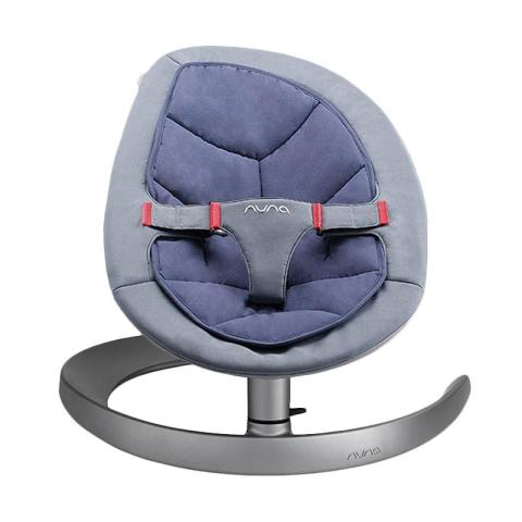 Mumsandbabes - Nuna Leaf Baby Bouncer - Curv Dawn Aube Blue Grey