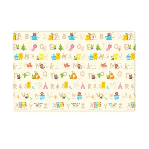 Mumsandbabes - Coby Haus Mat Pvc Bear Abc Xl  - Yellow Mix