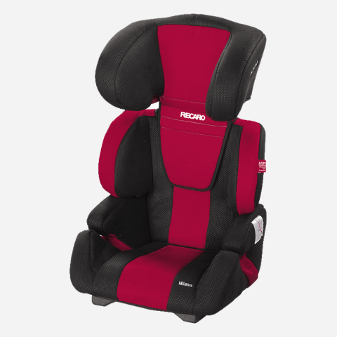 Mumsandbabes - Recaro Milano Car Seat- Cherry Red
