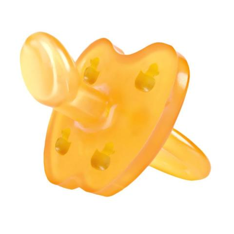 Mumsandbabes - Hevea Natural Rubber Star & Moon Pacifier 3-36m Dot Bayi [Large Teat]