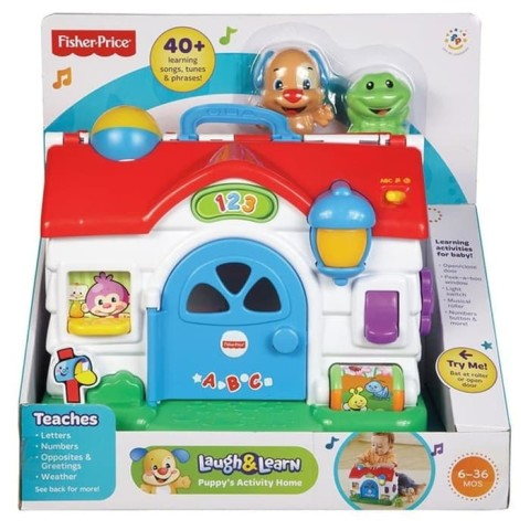 Mumsandbabes - Fisher Price FGW20 Laugh & Learn Puppy Busy Activ Home