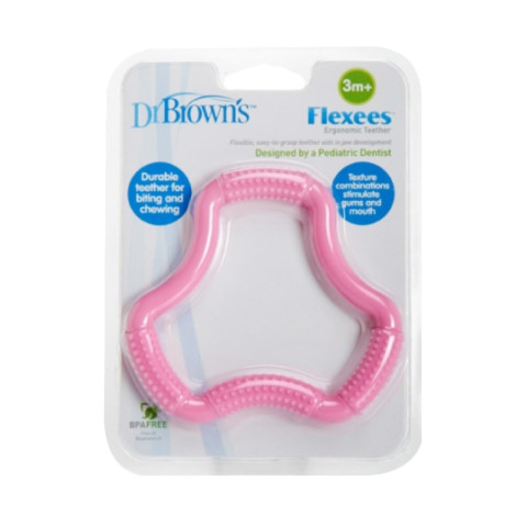Mumsandbabes -  Dr. Brown's A-Shaped Flexees TE100-P2 Teether - Pink