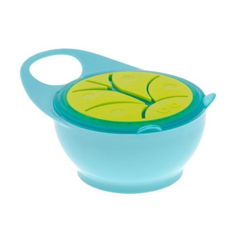 Mumsandbabes - Brother Max Easy Hold Snack Pot Bowl Peralatan Makan - Blue Green