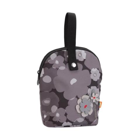 Mumsandbabes - Okiedog Tandem Flower Power Cooler Bag - Grey