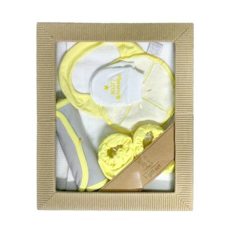 Mumsandbabes - Cribcot TB Knitted Gift Set - White Lemon