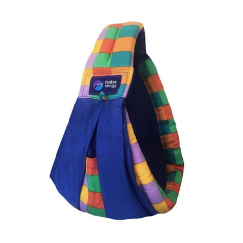 Mumsandbabes - Baba Slings Colorful Block Gendongan Bayi